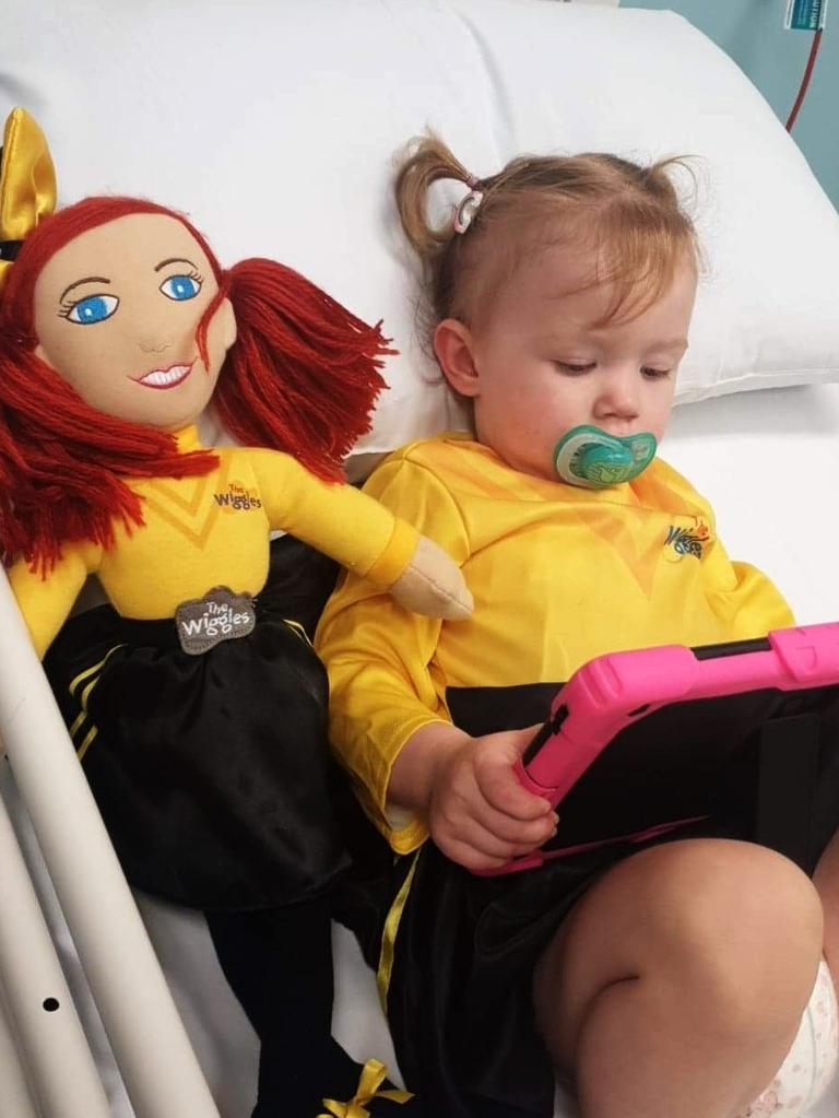 Emerald's Rein Boag, 2, spent more than four months in hospital, receiving treatment for a rare cancer diagnosis.