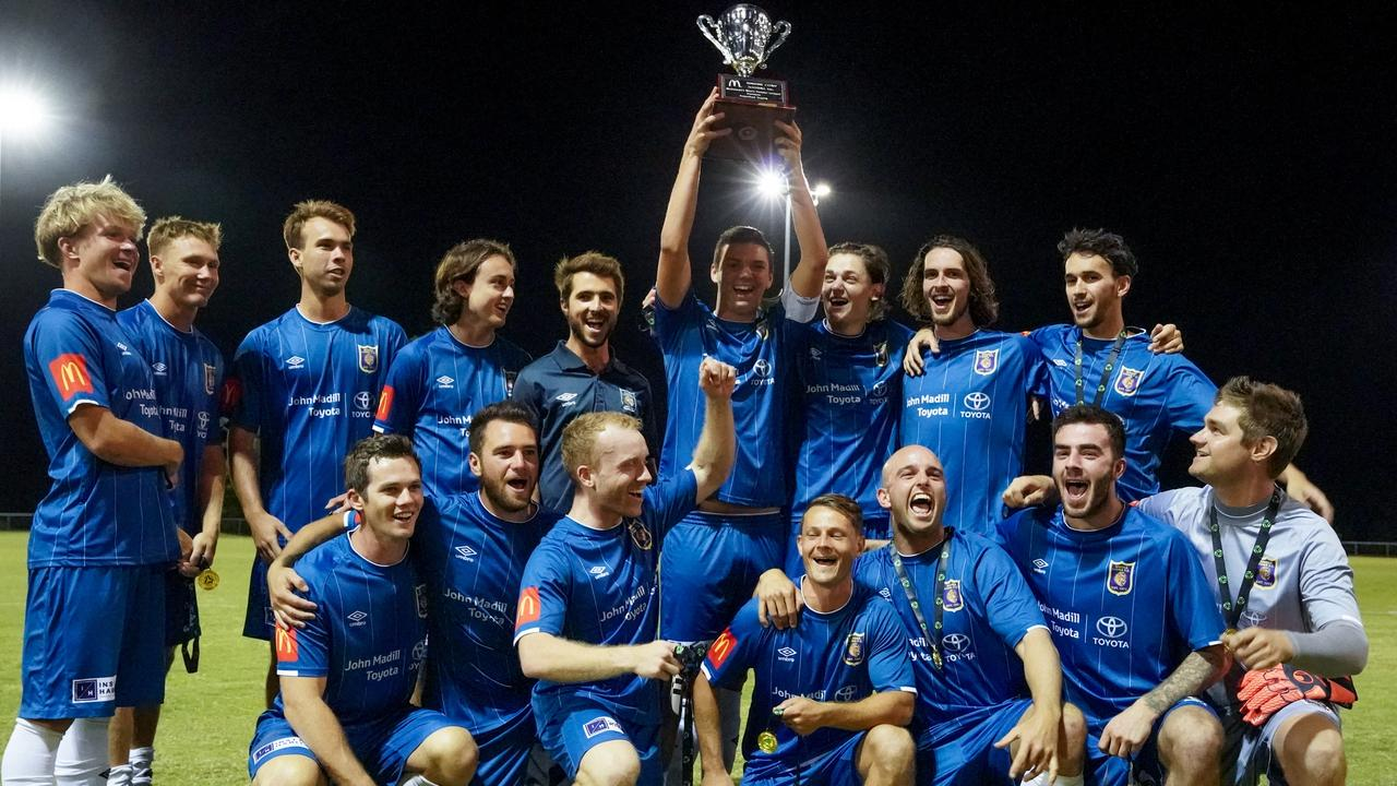 The Noosa Lions were officially presented with their fourth straight premiership silverware on Saturday. Picture: Michael Cookman – 365 Photography