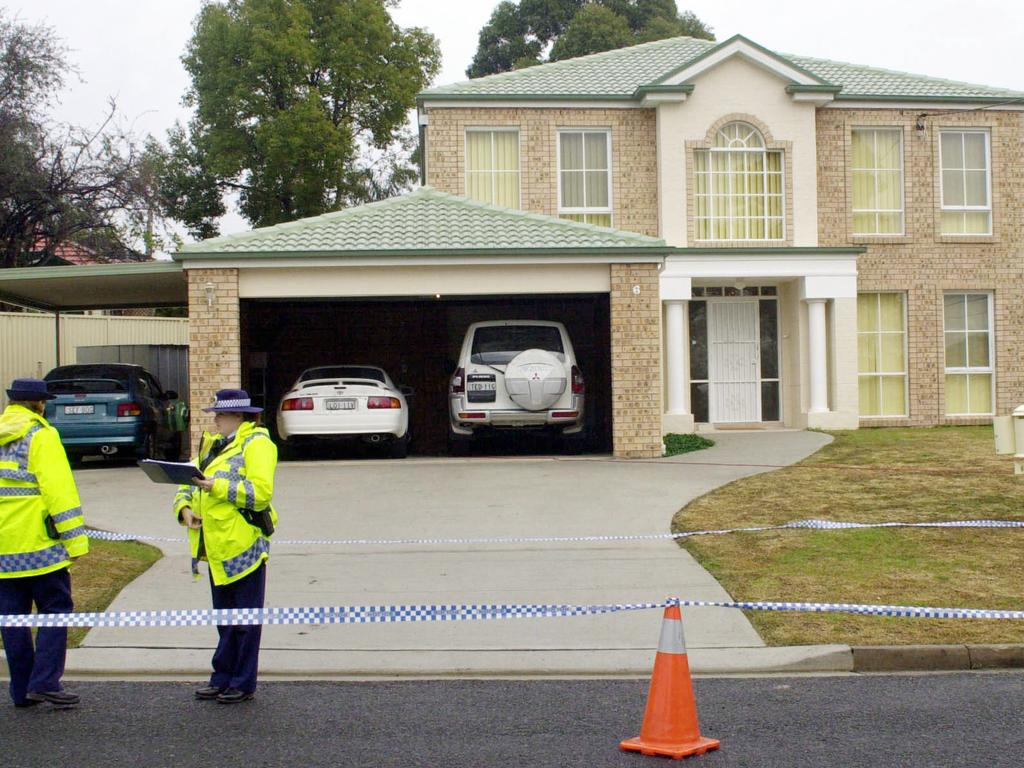 Police outside the Gonzales house in North Ryde.