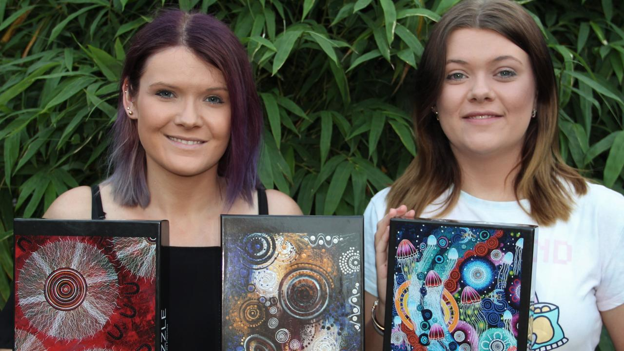 QUT has teamed up with IndigiLedger to support business development and research around the pilot use cases, such as Kalkadoon artists Chern'ee and Brooke Sutton whose products span original artworks to homewares and tourism souvenirs.