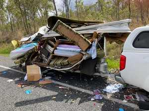 'Horror' crash: Bruce Highway reopens, 81yo stable in Mackay