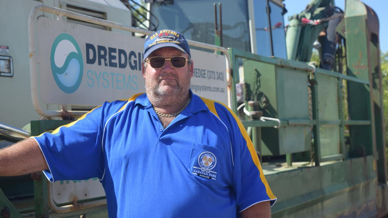 Molongle Creek Caravan Park owner Tony Black hoped dredging work would begin soon as the park was suffering from the lack of access. Picture: Laura Thomas