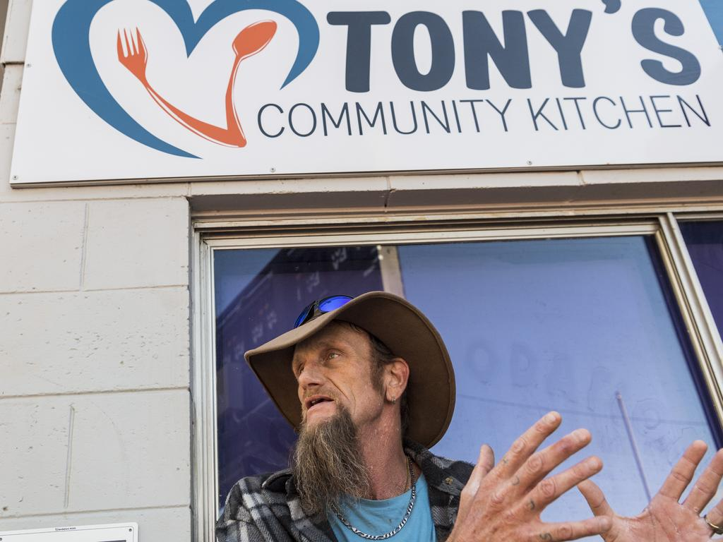Daniel Thompson credits Tony's Community Kitchen with getting him off the streets and living in his own place. Picture: Kevin Farmer