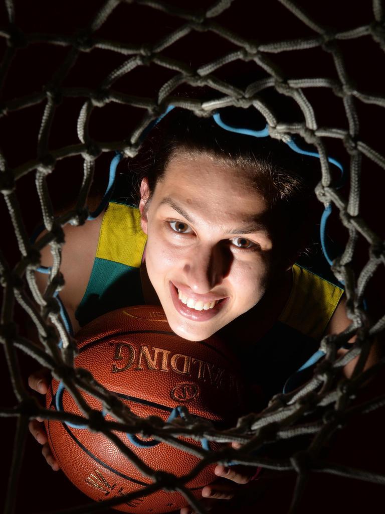Basketballer Marianna Tolo in 2015 at Mackay Basketball Stadium. Picture: Tony Martin