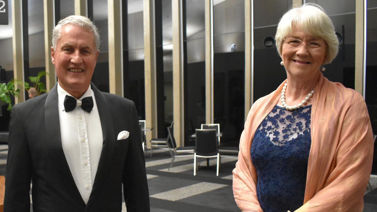 Mackay Regional Council Mayor Greg Williamson and Rockhampton Regional Council Mayor Margaret Strelow. Picture: Zizi Averill