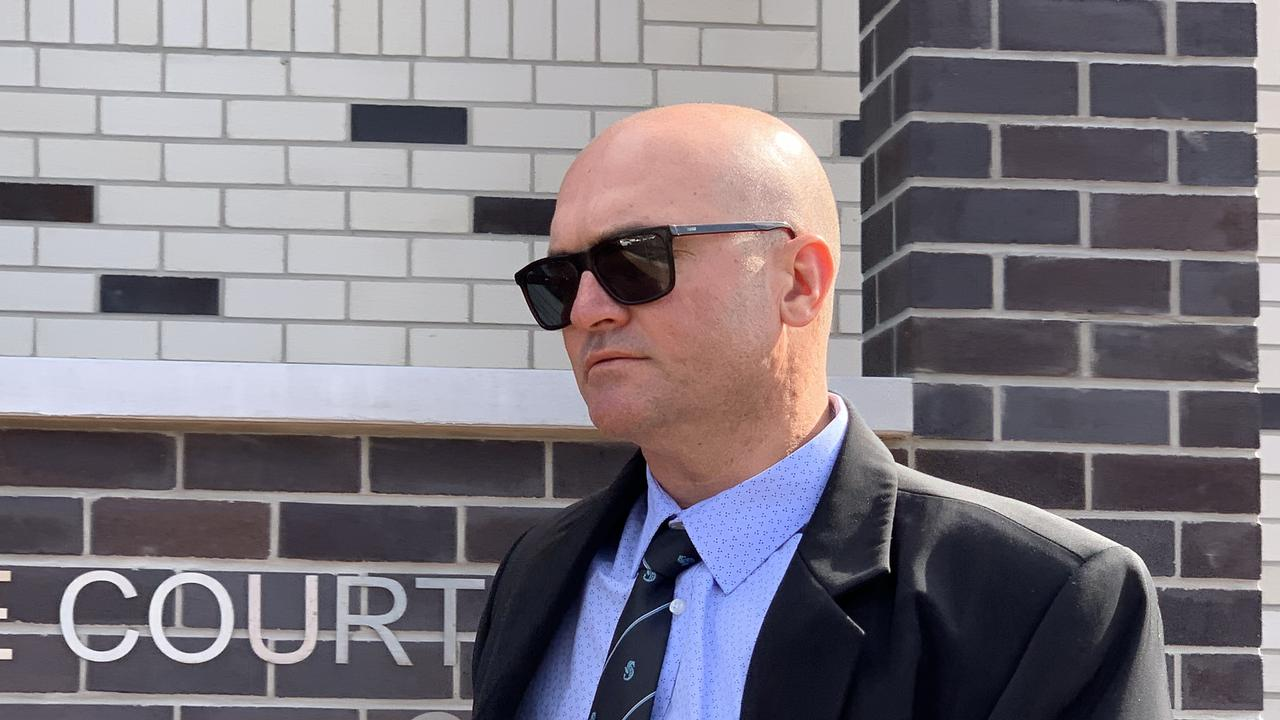 Senior Constable Michial Luke Greenhalgh, 39, has pleaded not guilty to one charge of common assault over the 2018 detention of a 16-year-old boy in Byron Bay. He is defending the allegation before a hearing this week. Picture: Liana Boss