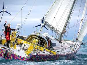 Solo sailor recalls near-death experience at sea