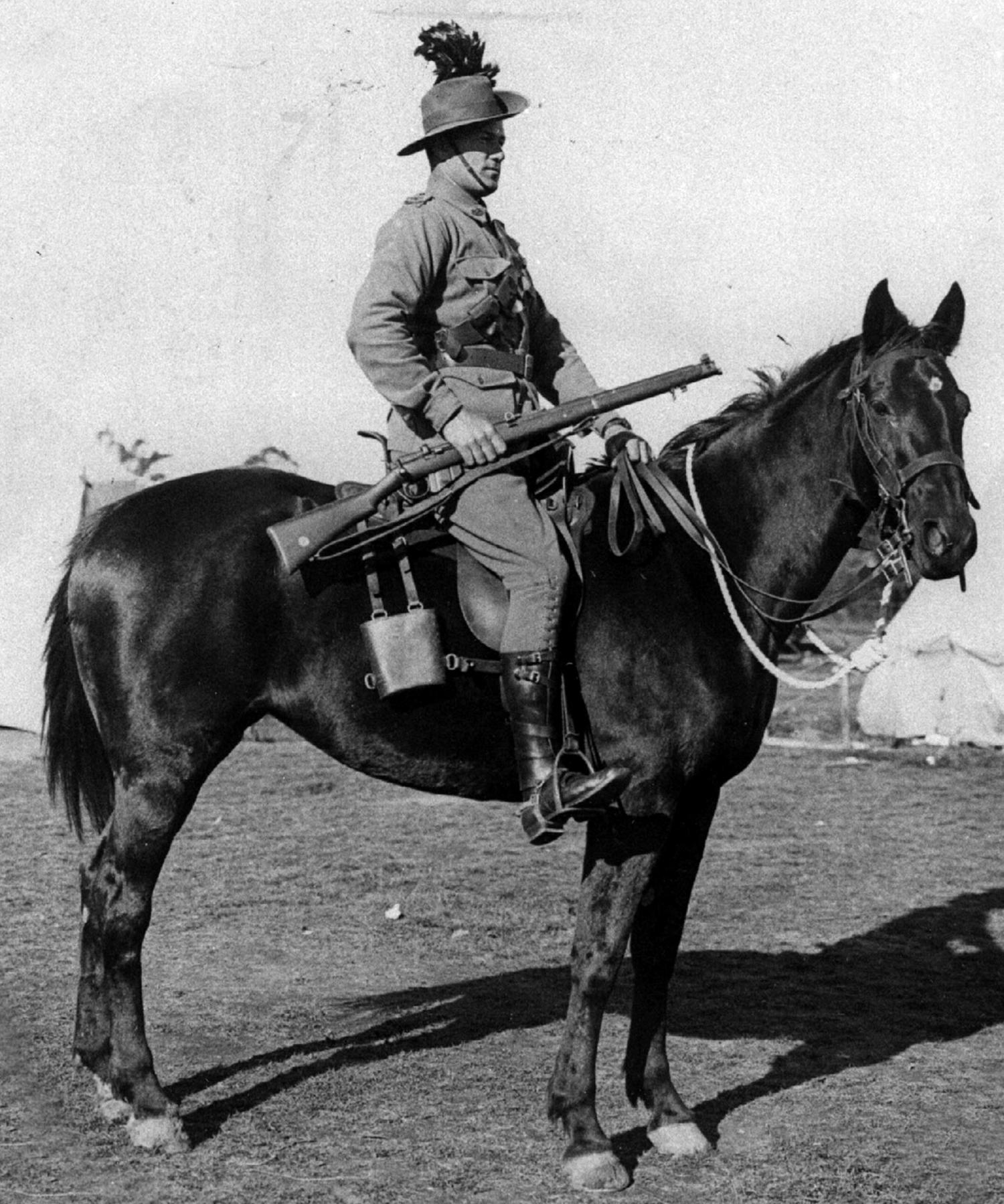 Lieutenant Guy Haydon on Midnight before the charge at Beersheba.