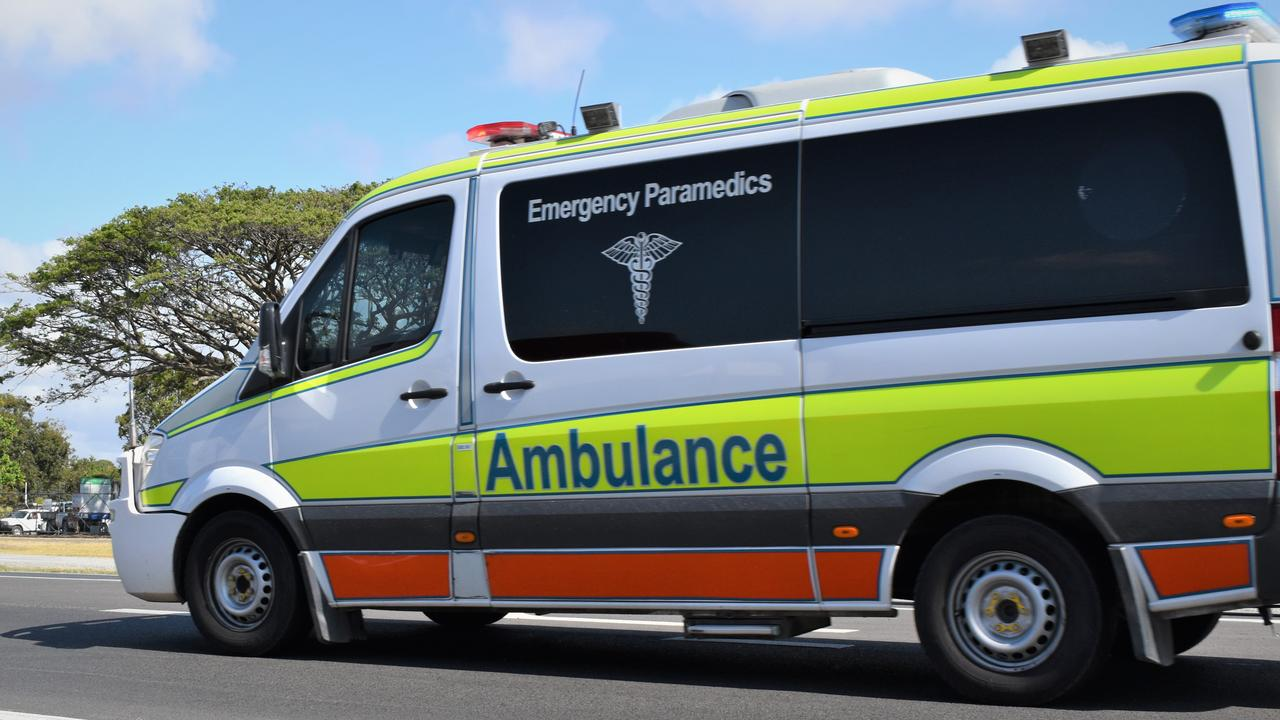 The Queensland Ambulance Service are currently at the scene of a crash south of Sarina. Picture: Heidi Petith