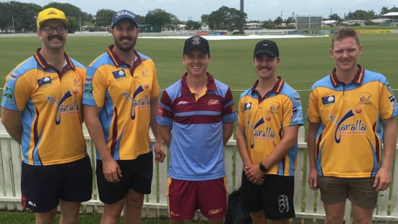 The CQ Centurions players who earned North Queensland selection (from left) Joe McGahan, Steven Porta, Sam Lowry, Logan Whitfield and Harry Rideout.