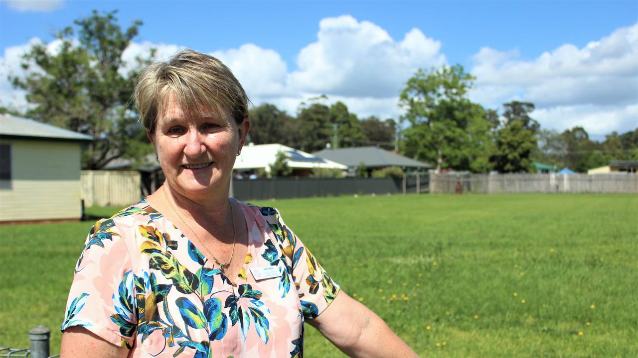 Heartstart secretary Faye Neil at the site where she hopes the new Glenreagh Community Hub will be located. Photo: Tim Jarrett