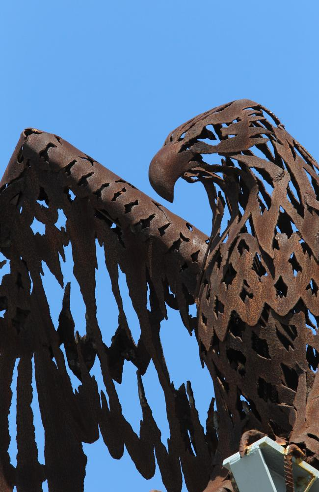 The eagle was created by artist Craig Medson in 1983.