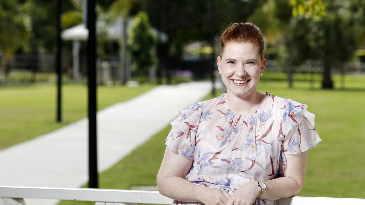 Clinical nurse at Mater Health Service, Annabel McKay has been nominated for Queensland Young Australian of the Year, 2021. Picture: Josh Woning