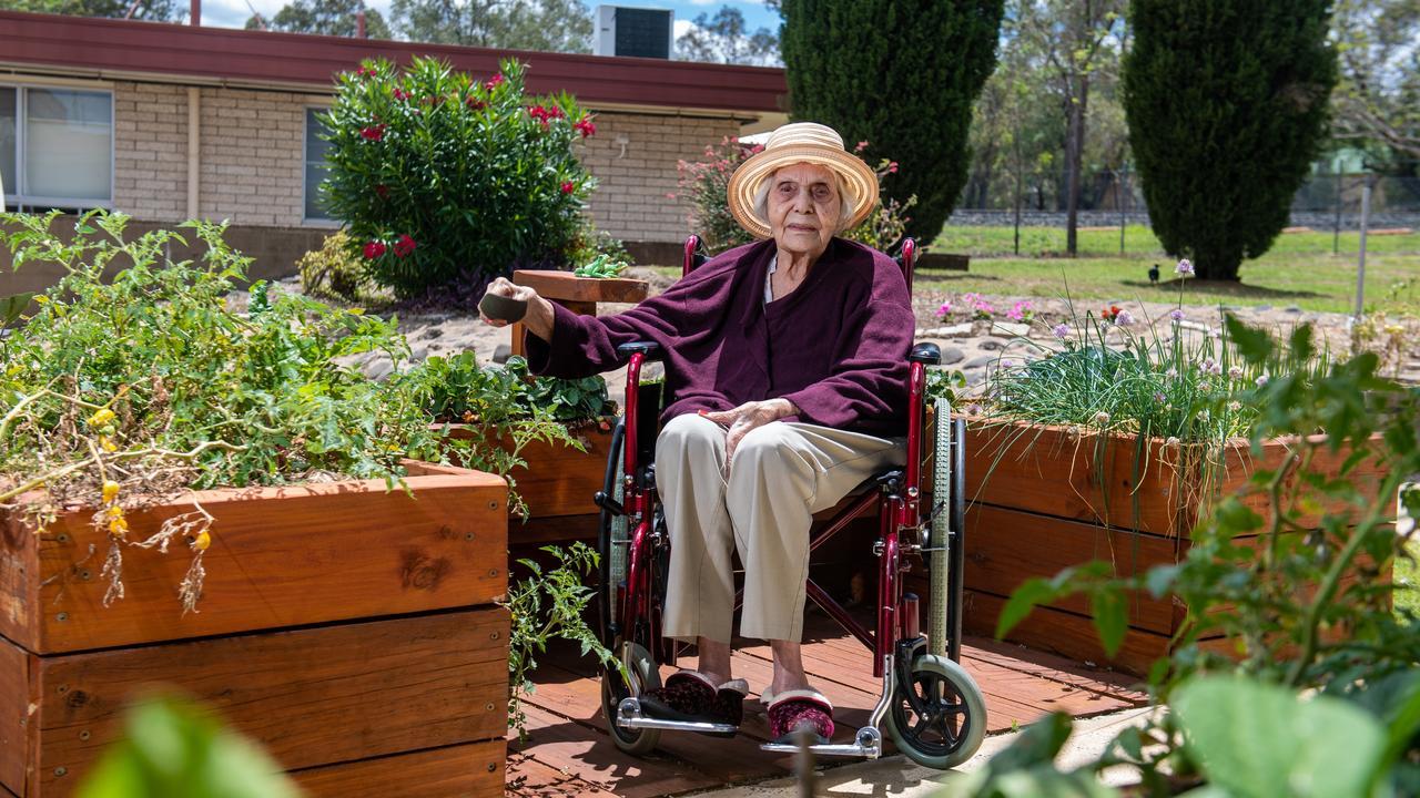 Carinity Karinya Place, Laidley, resident Edna Brown. Photo: Ali Kuchel