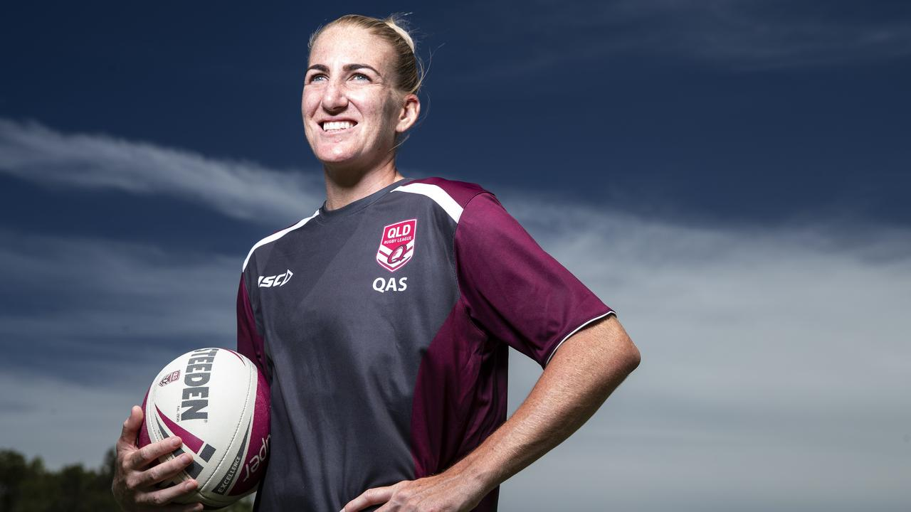 Queensland captain Ali Brigginshaw has her players ready to take on NSW in the NRLW State of Origin at Sunshine Coast Stadium on Friday. Picture: Lachie Millard