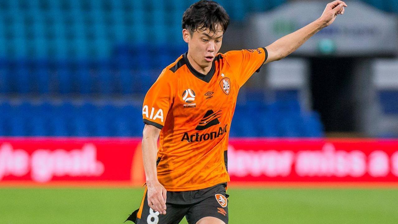 Brisbane Roar midfielder Danny Kim.