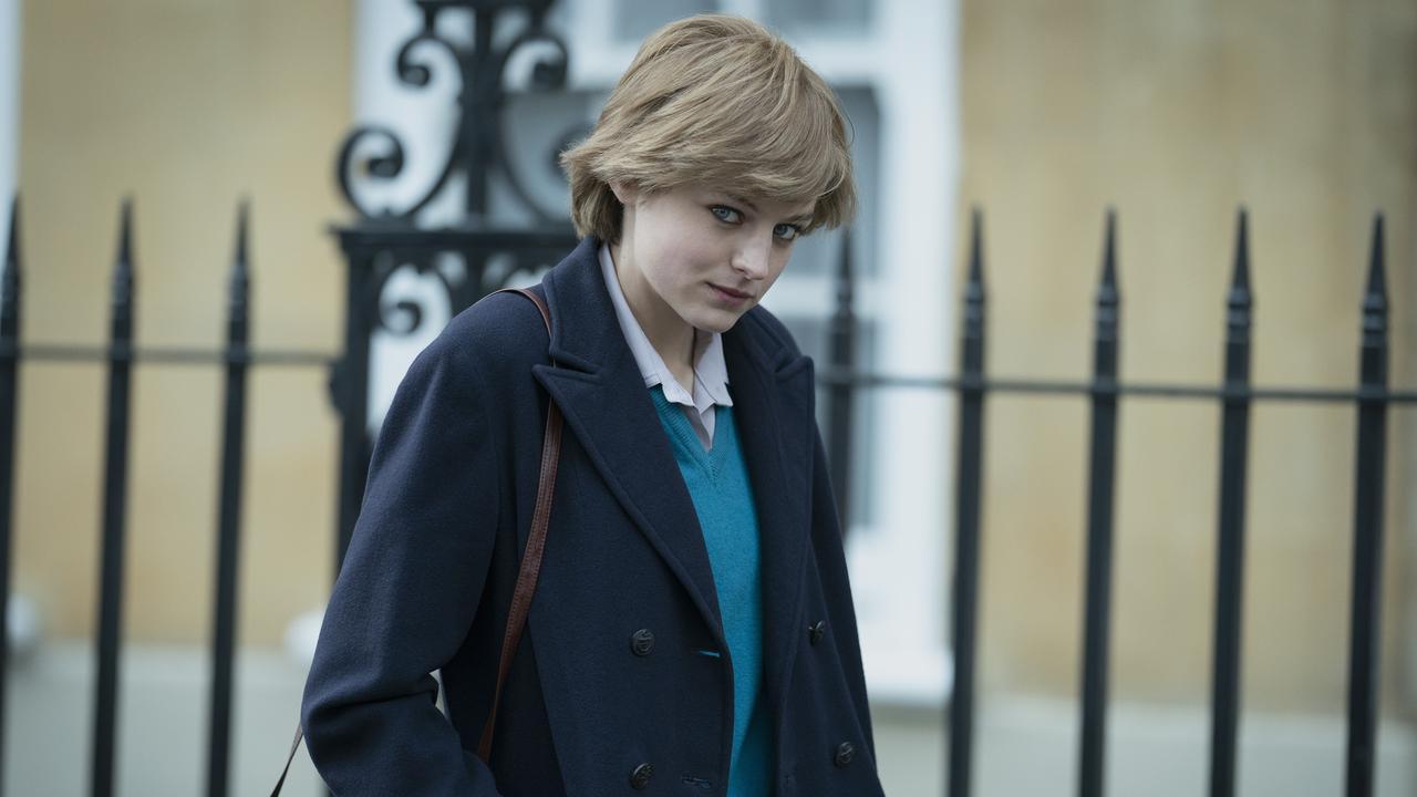 Emma Corrin as a young Princess Diana