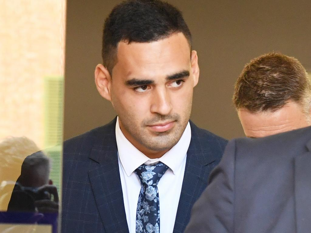 NRL player Tyrone May pleaded guilty to filming an intimate video without consent. Picture: AAP Image/Peter Rae