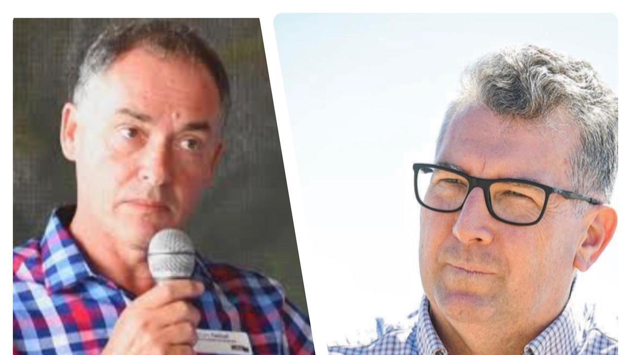Hervey Bay's MP elect Adrian Tantari and Hinkler MP Keith Pitt.