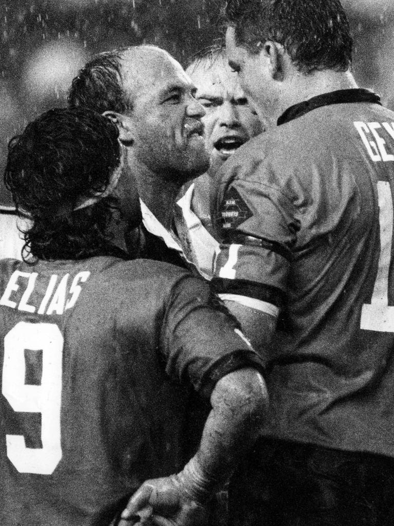 Wally Lewis' hate for all things NSW inspired his state. Picture Geoff McLachlan