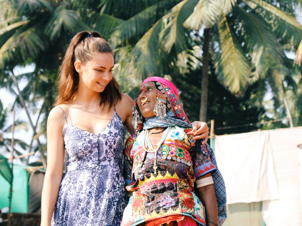Sarah Todd during her travels in India. Picture: Contributed
