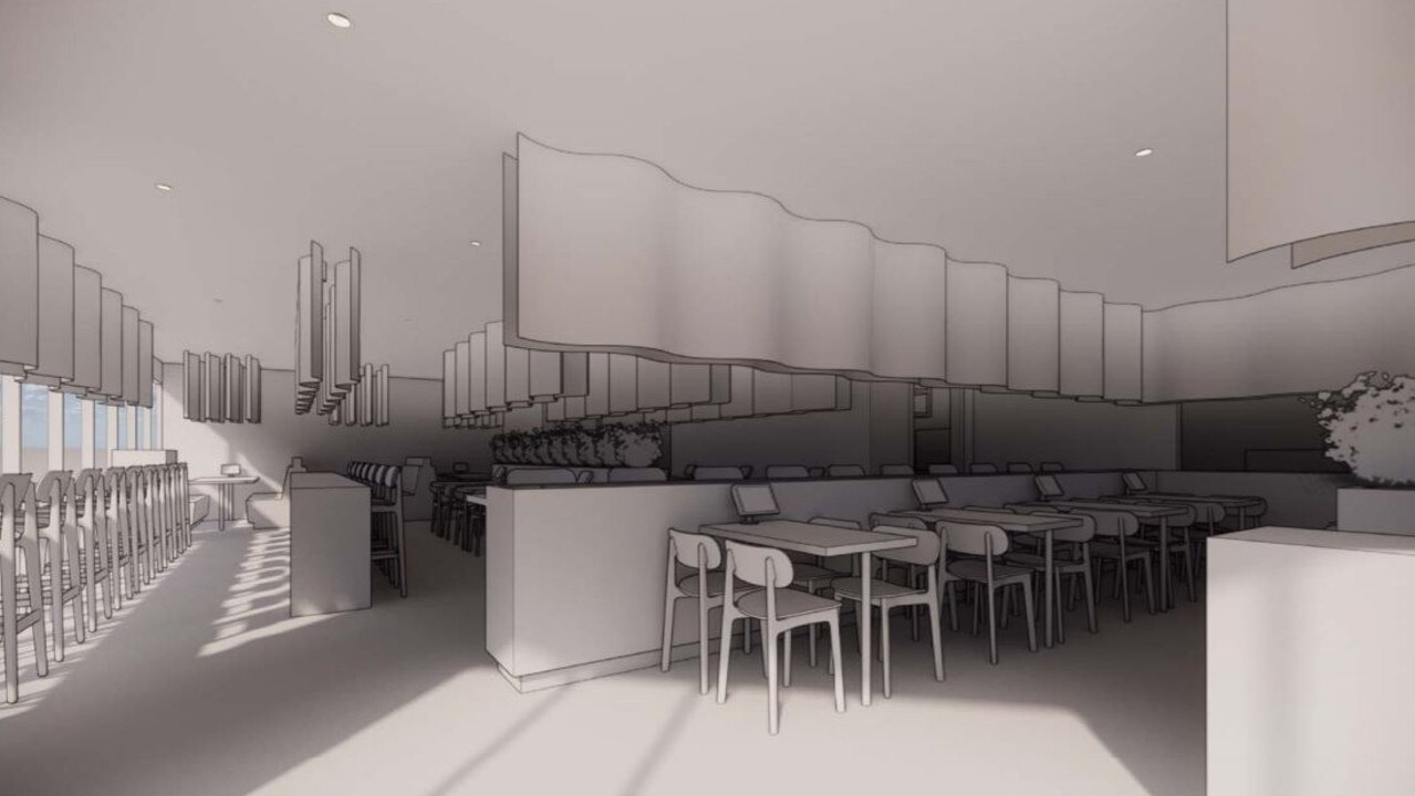 Architect's drawings of the planned revamp of Sushi Kuni at Ballina Central.