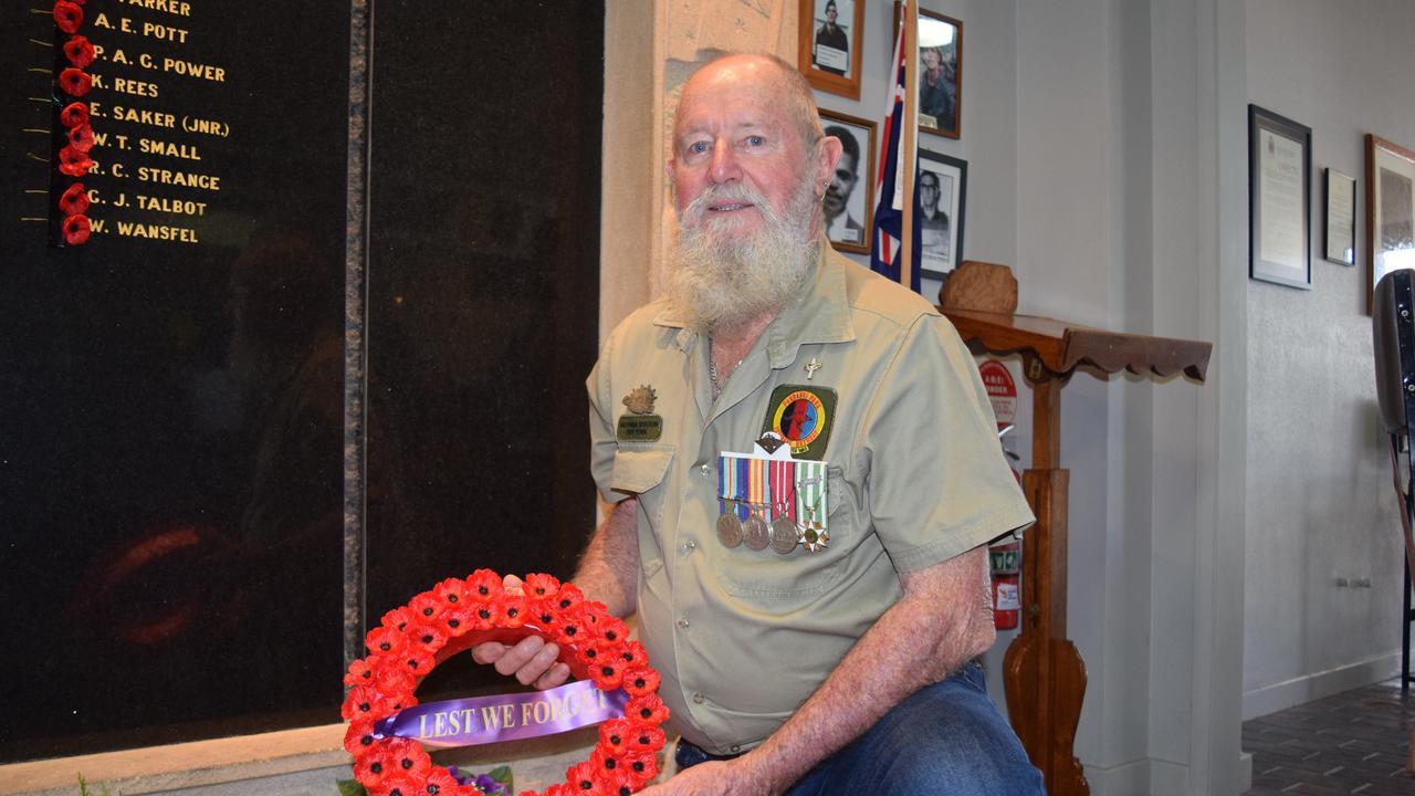 Bowen Vietnam veteran Peter Hannah recalls coming home to a hostile atmosphere after the war. Photo: Elyse Wurm
