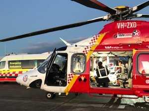 Motorcyclist seriously injured after hitting kangaroo