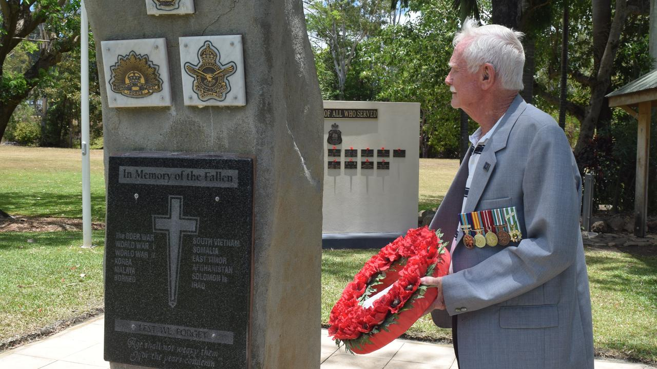 Vietnam veteran Andrew McKay joined other ex-servicemen and women at the Remembrance Day service in Airlie Beach. Picture: Laura Thomas