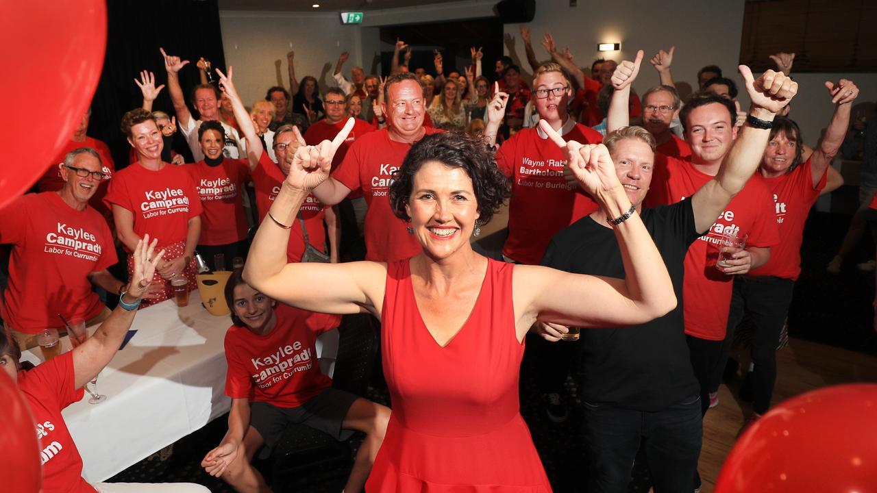 Kaylee Campradt on election night. Photo: Scott Powick