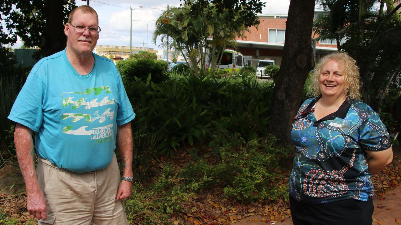 Gary Cameron said he's grateful for the support he received from Bundaberg nurse navigator Coralie Wheeler.