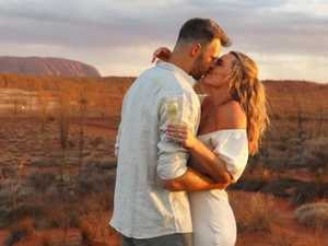 'Yes': Ch 7 star and AFL player engaged