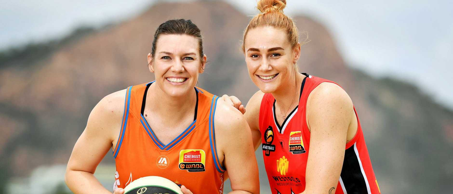 Former teammates 'roughed each other up' during the WNBL season launch. Watch how these former teammates go in new team colours in our livestream.