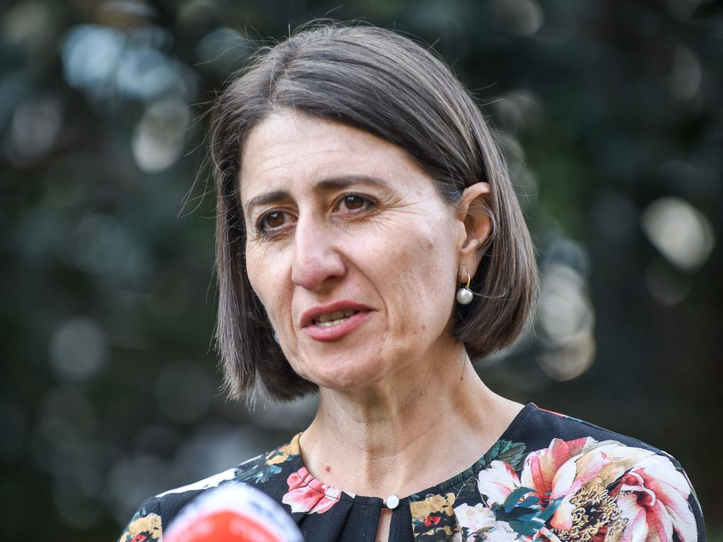 "NSW Premier Gladys Berejiklian has this morning lashed out at her QLD counterpart Annastacia Palaszczuk, stating the conditions that will lead to a reopened QLD/NSW border is ""unrealistic"". Picture: NCA NewsWire/Flavio Brancaleone"
