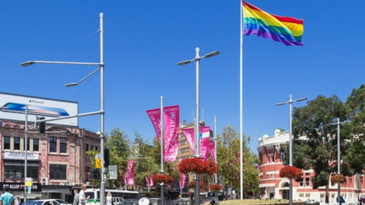 The rainbow flag flies over Sydney's gay community in Darlinghurst.