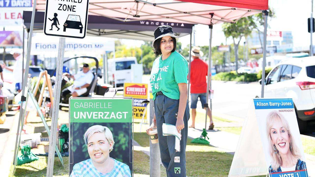 ELECTIONS: Pre-polling booths on Aerodrome Road, Maroochydore. Picture: Patrick Woods / Sunshine Coast Daily.