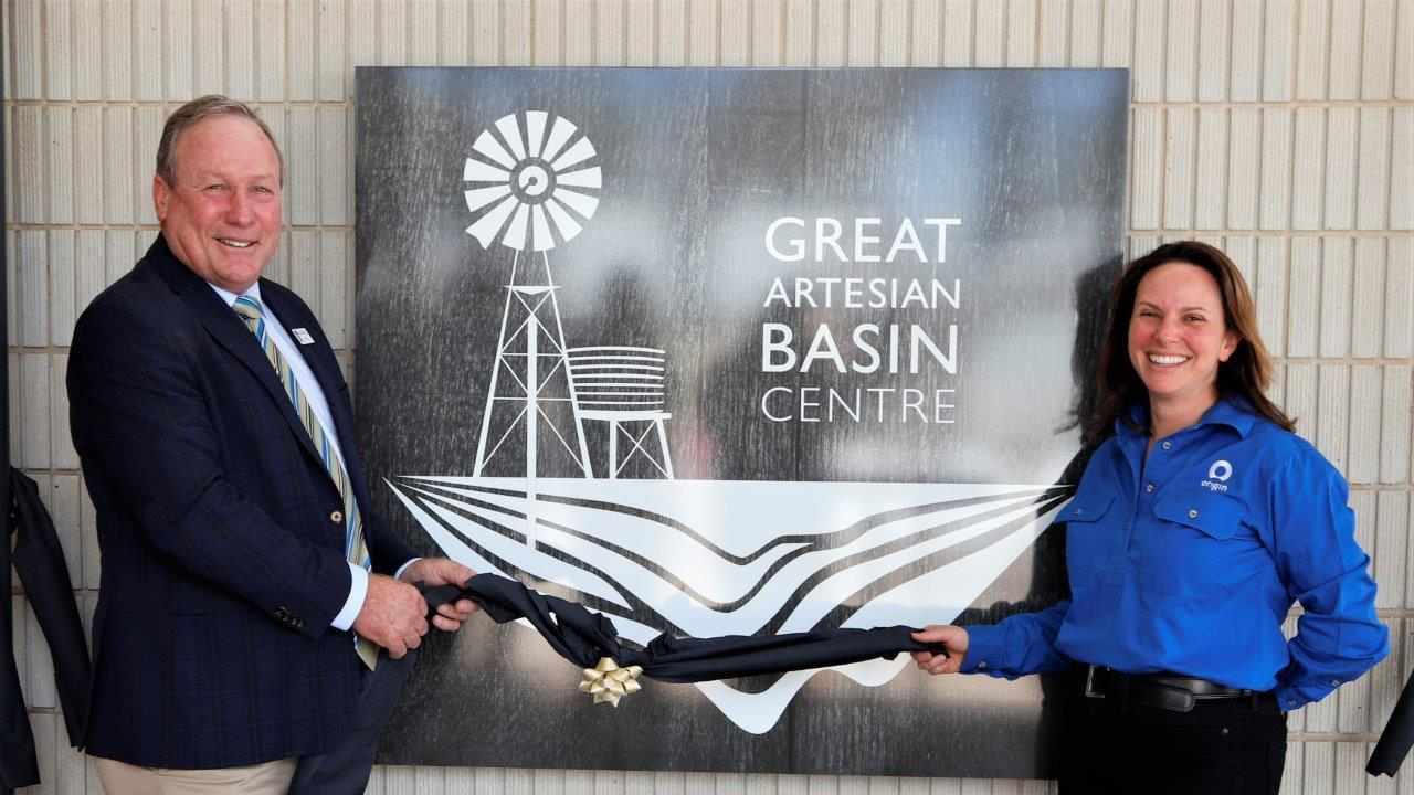TOURISM: Origin Energy general manager at Condabri, Talinga and Orana Assets Alexandra Kennedy-Clark and Western Downs Regional Council Mayor Paul McVeigh at the project launch. Pic: Supplied