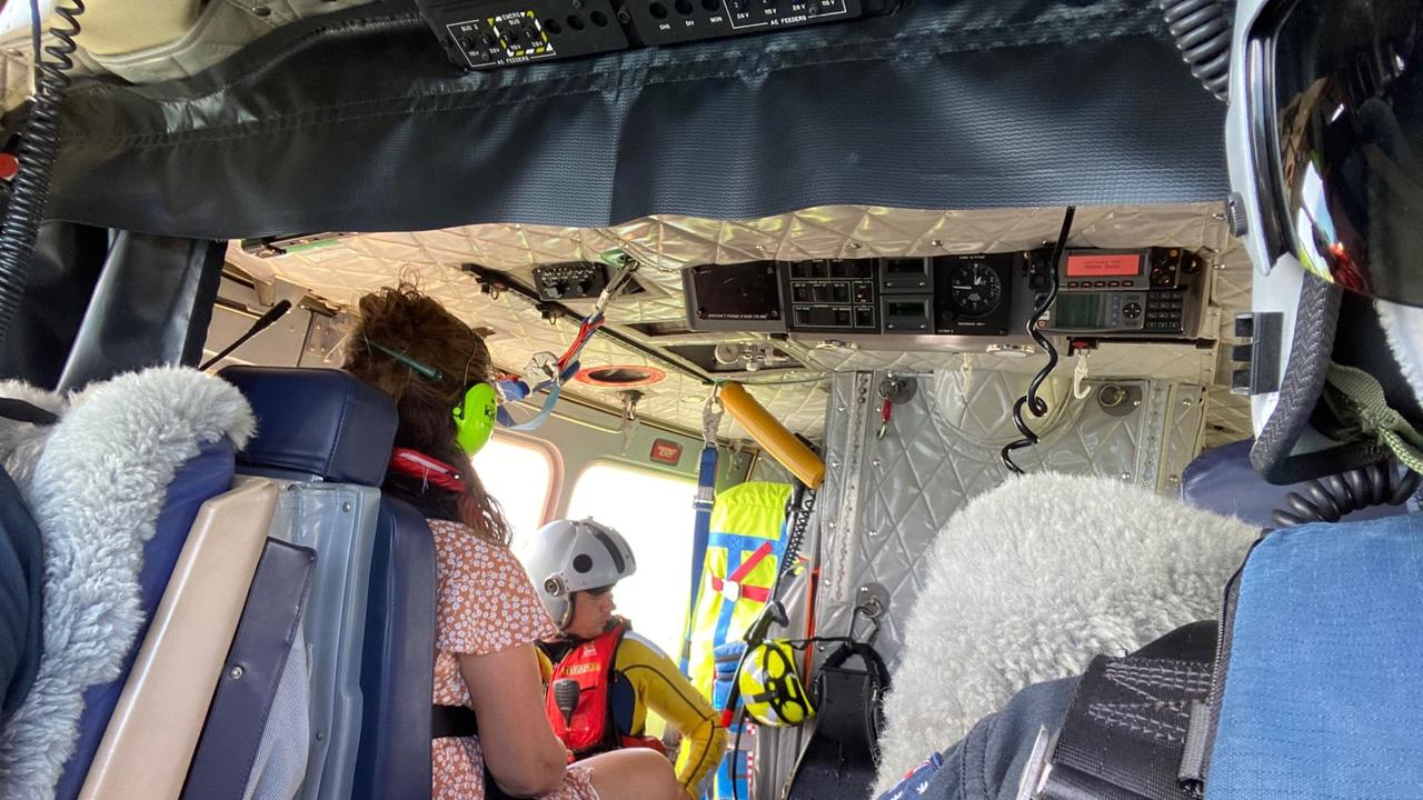 A tourist was winched from his boat in Cid Harbour after a battery exploded in his face. Picture: RACQ CQ Rescue