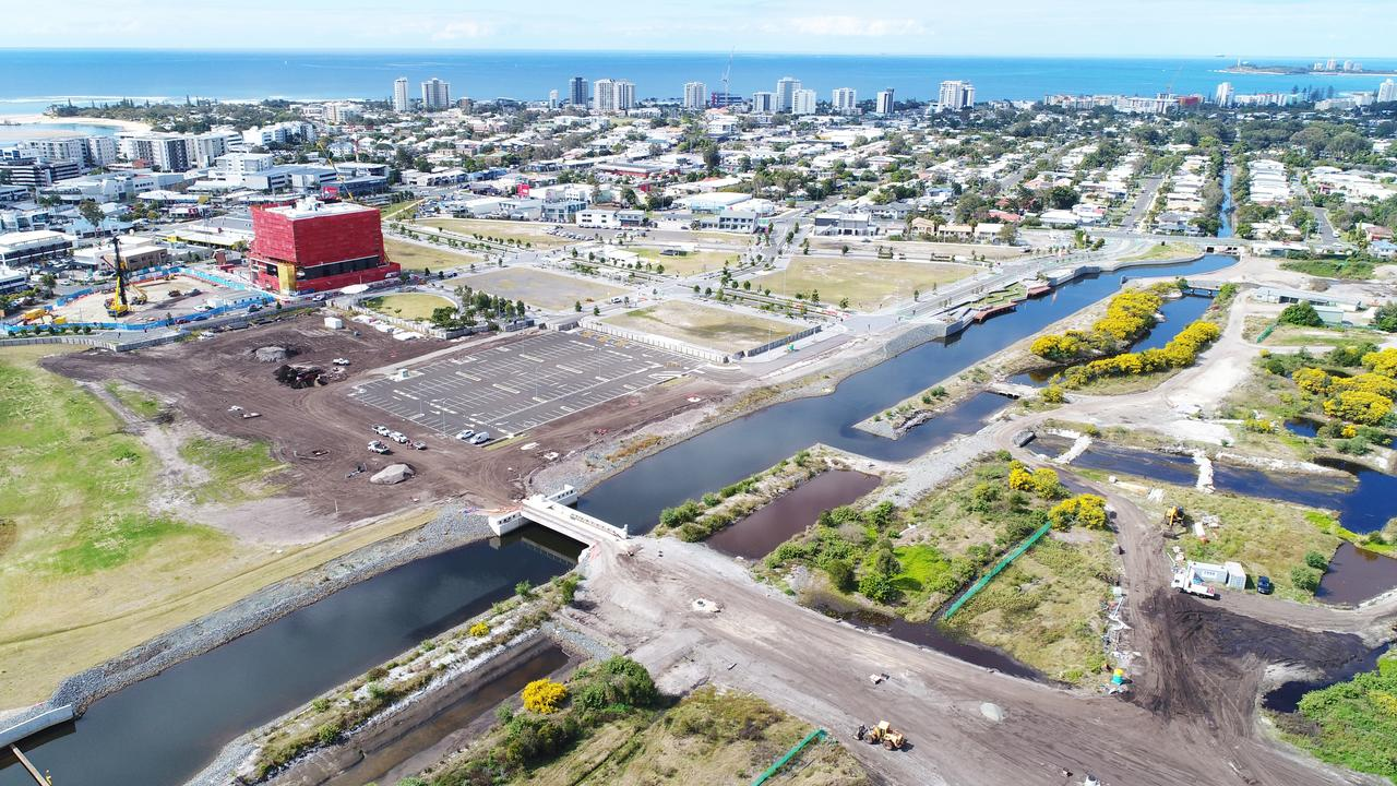 DRONE: Development of Maroochydore CBD in August, 2020. Picture: Patrick Woods