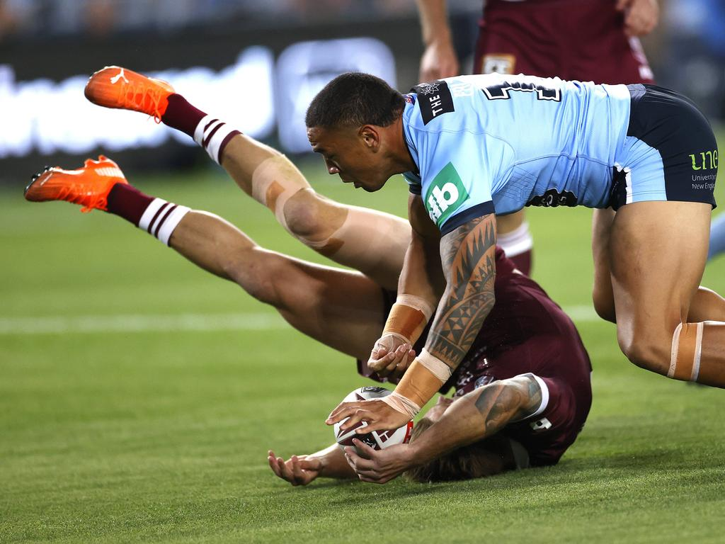 QLD's Cameron Munster barely had a chance to make an impact. Picture. Phil Hillyard