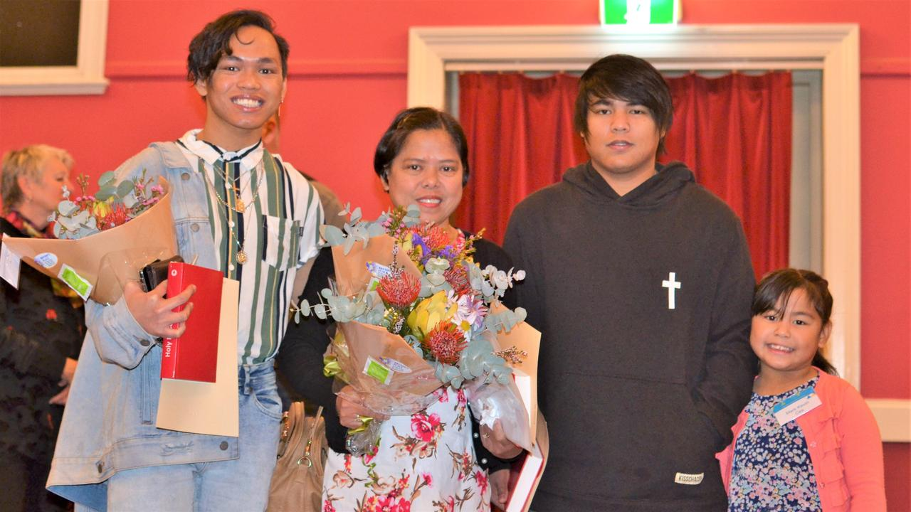 Southern Downs residents John Ces, Kathleen Ces, Kevin Ces, and Joleen Ces were sworn in at the 2018 Australian Citizenship ceremony in Warwick Town Hall. Photo: contributed