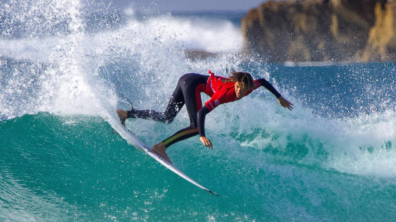 Angourie's Harley Walters on day one of the Woolworths NSW Junior State Titles in August. Photo: Ethan Smith / Surfing NSW.