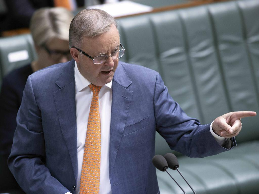 "Labor Leader Anthony Albanese says the party ""will not tolerate a circumstance where workers over 35 are done for"". Picture: NCA NewsWire / Gary Ramage"