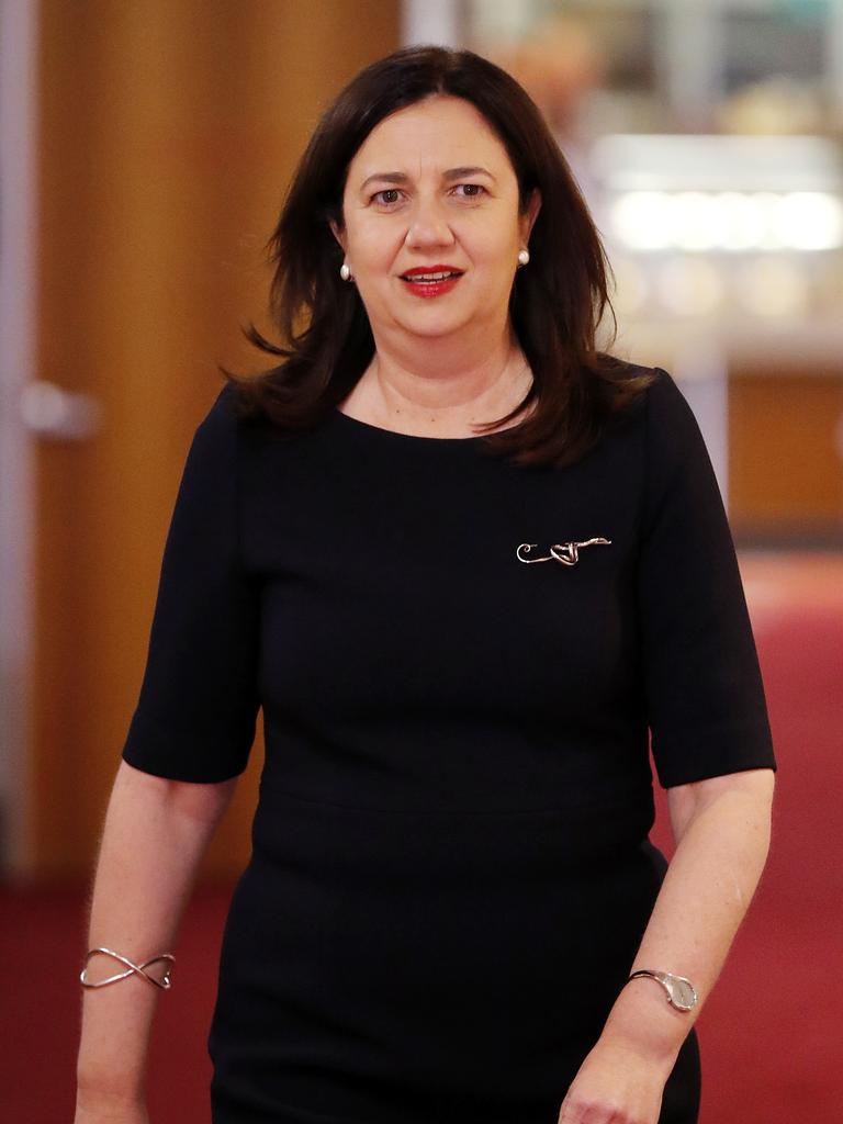 Premier Anastasia Palaszczuk pictured at Parliament House on November 10, 2020. The Premier won the recent Queensland state election for another term. Image: Josh Woning