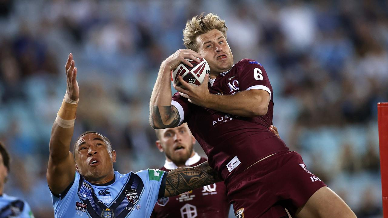 Maroon superstar Cameron Munster was knocked out of Origin II after concussion – and the hit that caused it was illegal.