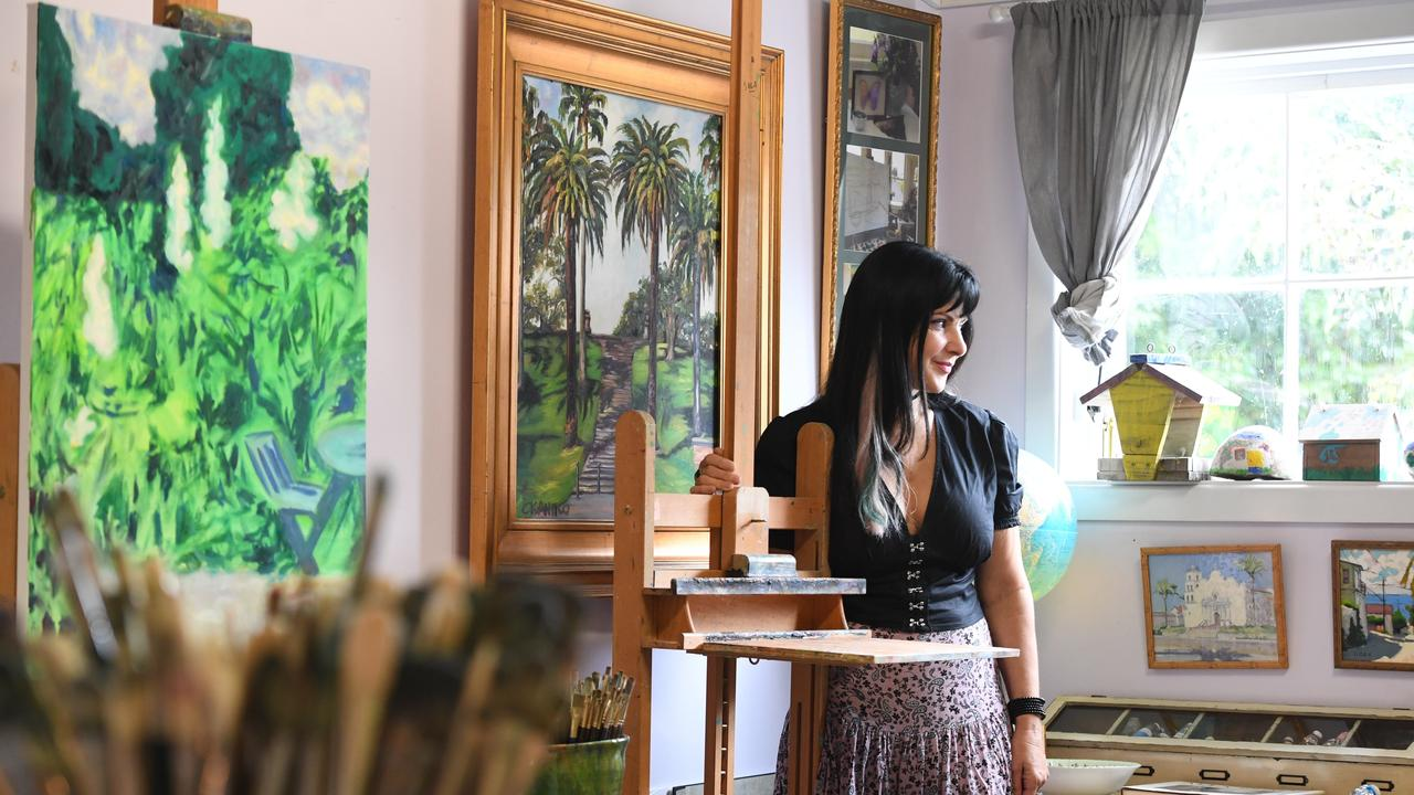 Renowned Australian tetrachromat artist, Concetta Antico, will finally open her new gallery, with money from sales to go towards her son's care. Picture: Marc Stapelberg