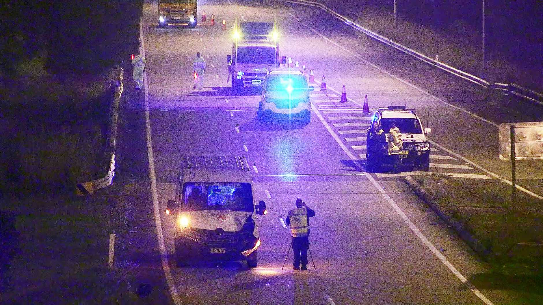An 18-year-old man was hit by a van on the Pacific Highway in the early hours of Thursday November 12. Police established a crime scene and the man was taken to Coffs Harbour Hospital where he was later flown to John Hunter Hospital in Newcastle.