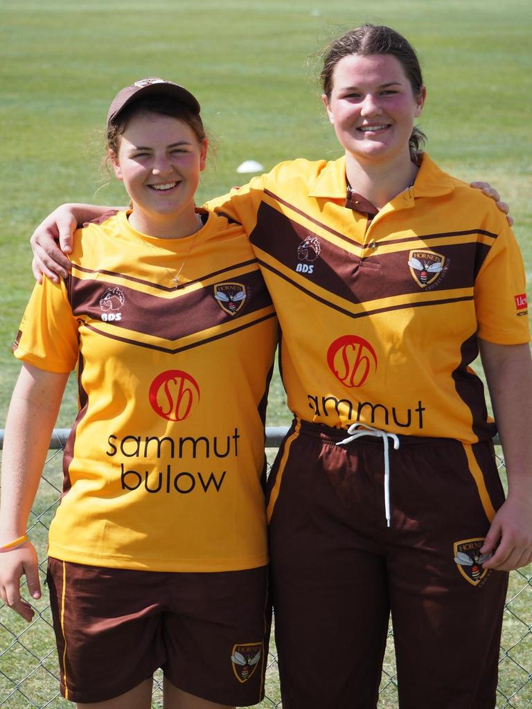 Consistent performing cousins Ellie (left) and Ruth Johnston are playing well receiving great support from their Hornets teammates.