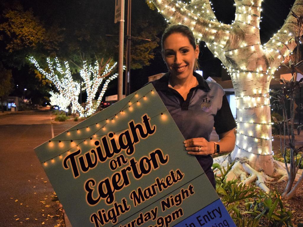 Twilight on Egerton Night Markets event co-ordinator Tamara Walker.