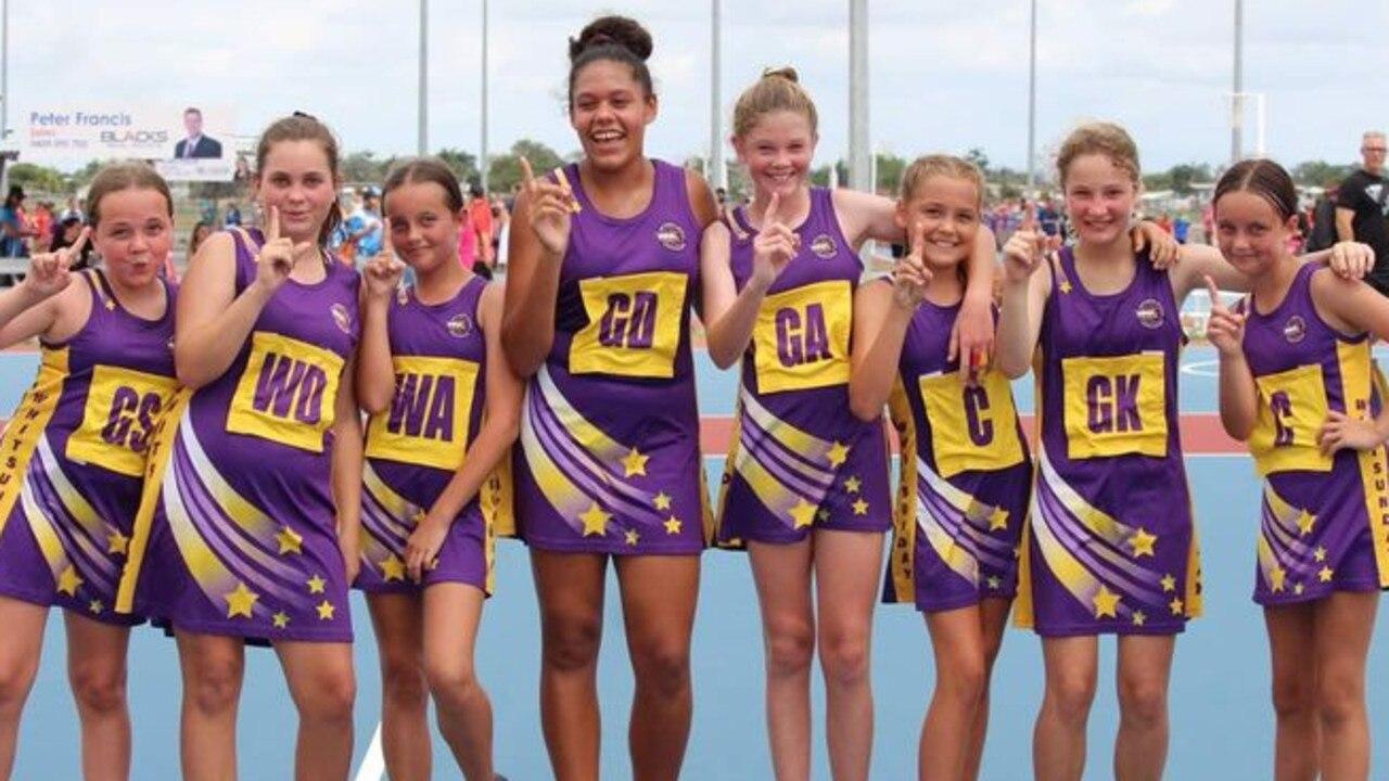Whitsunday Warriors Under-12 players Tarni Walkden, Tessa Bates, Khloe Matheson-Hone, Elsie Hinton, Lillian Kelly, Jordyn Mackay, Evie Flynn and Jaylynn Matheson-Hone won their grand final at the weekend.